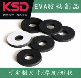 苏州EVA泡棉模切冲型,黑色/白色带胶EVA泡棉垫