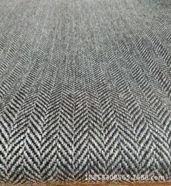 人字纹色织仿麻布 斜纹条子沙发布 扎毛涂层装饰布 仿麻家具布
