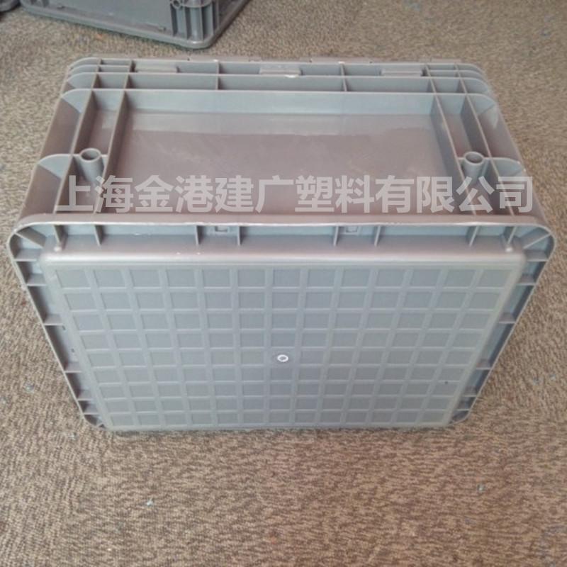 供应4323 塑料周转箱  零部件包装箱400*300*230带盖周转箱