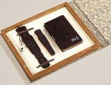 玲珑(琴式书签、玲珑名片夹、琴式U盘)商务三件套高档红木工艺品