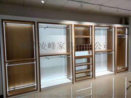 潍坊定制展柜厂设计制作男女服装展示柜架