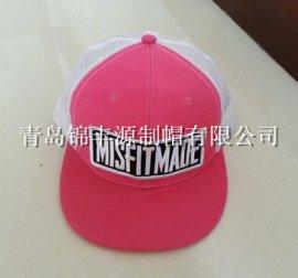 专业厂家生产定做贴布刺绣logo 平沿卡车帽 欧美街舞帽