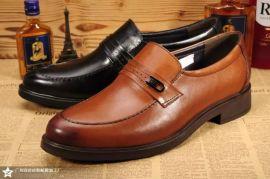 【广东鹤山皮鞋厂承接大小订单贴牌加工爱步皮鞋,木林森男鞋,