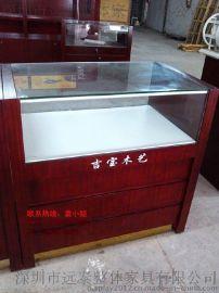 珠海木艺展柜/黄花梨木梳展示柜