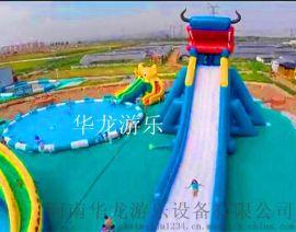 兴平市夏季  水上乐园 充气水滑梯 水上漂浮物