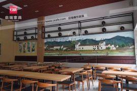 铁艺做旧咖啡厅桌椅卡座双人三人沙发桌椅复古酒吧卡座桌椅工业风