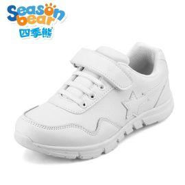 四季熊2016年新款学生男**中小学生白波鞋儿童休闲运动鞋跑步鞋