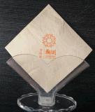 竹纤维高档印花原色餐巾纸