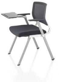东莞时尚高档网布培训椅可折叠带写字板