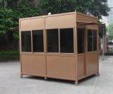 廣州交通安防保安治安崗亭定製 香檳金不鏽鋼保安崗亭