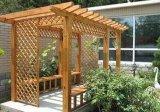 東營防腐木花箱桌椅雨棚