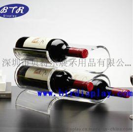 亚克力红酒瓶架酒瓶展示架红酒展示架