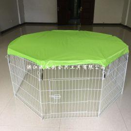 带网布的宠物狗围栏 铁栅栏带门款 小动物用品,兔子等