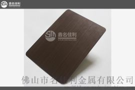 不锈钢装饰报价 优质手工拉丝发黑红古铜批发 拉丝红古铜表面处理