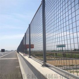 供应淮北市桥梁防抛网高速护栏网绿色防落网