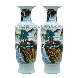 手绘摆件花瓶厂家   **作品手绘花瓶