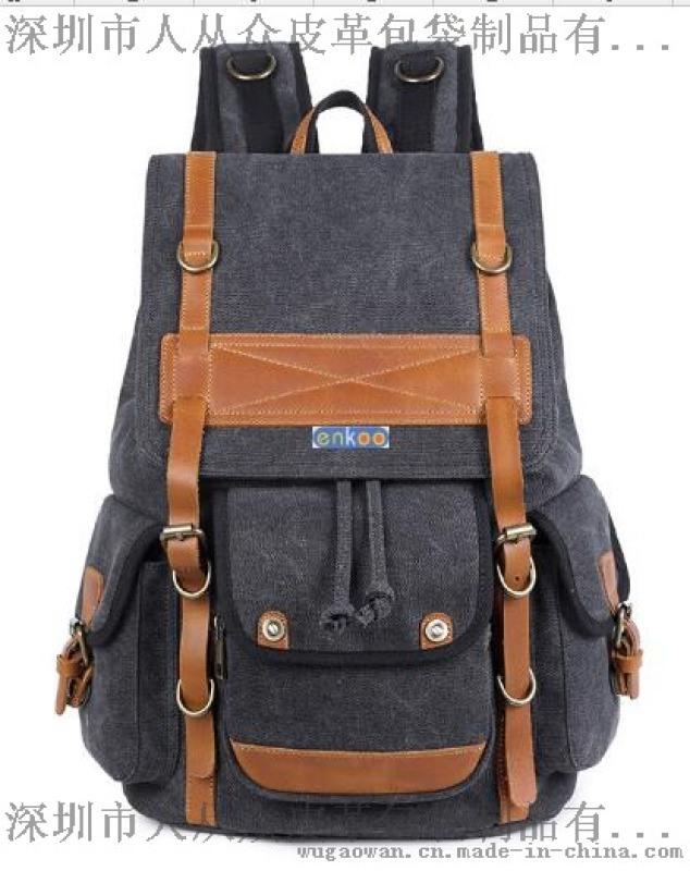 enkoo+CRA815+雙肩帆布揹包