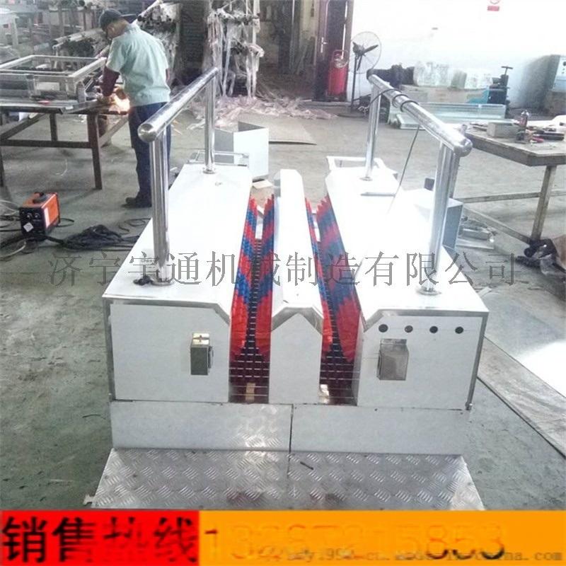 通道式煤矿喷淋式擦靴机 自动喷射式洗靴机