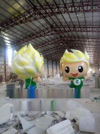大型动漫卡通玻璃钢雕塑 玻璃纤维吉祥物公仔雕塑