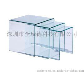 深圳PC工艺折弯打孔 塑料板角度成型 PC罩折弯热压雕刻丝印等加工