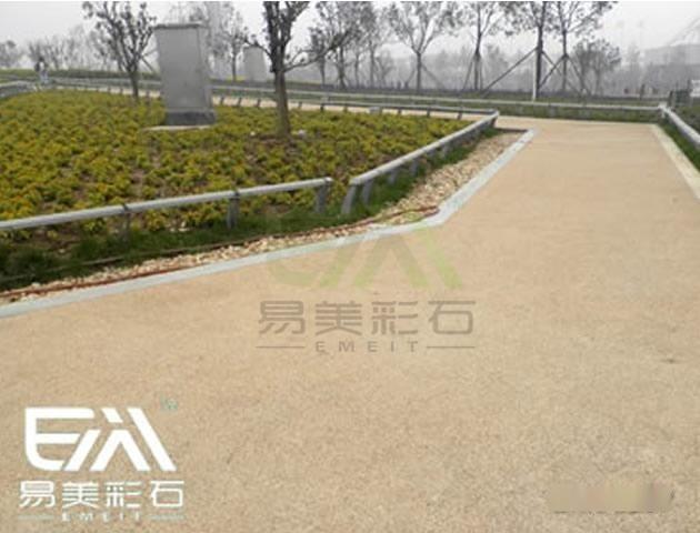 仿彩色沥青水泥透水混凝土,彩色水泥透水混凝土地坪
