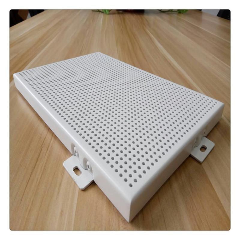 2.5mm冲孔白色铝单板造型外墙铝合金铝板幕墙