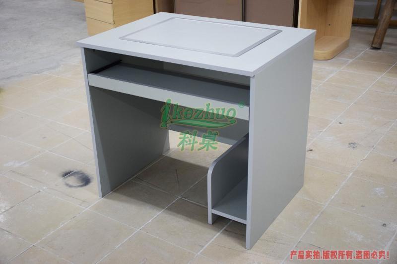 上海翻转电脑桌,  机房电脑双人桌,电教室嵌入式电脑桌,高科技培训电脑桌,翻转机构办公电脑桌