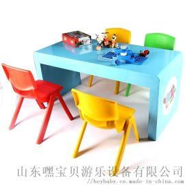 手工桌游戏桌儿童平面桌高档烤漆玩具桌陈列桌手工体验馆游乐