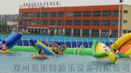安徽六安定做大型水上乐园找厂家贝斯特移动支架水池