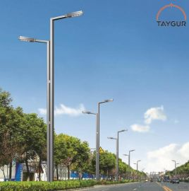 泰格LED照明燈,雙臂路燈杆,熱鍍鋅路燈,道路照明