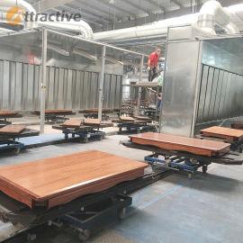 广东创智木器乐器家具喷涂设备 涂装生产线厂家