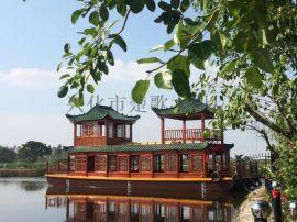 广东生态田园餐饮画舫船厂家直销 景区水上船餐厅
