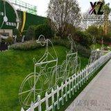 塑钢园林护栏、小区草坪护栏、安装草坪护栏
