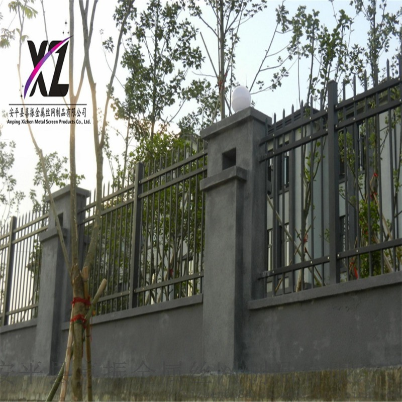 铁艺围墙护栏,小区铁艺围墙护栏,1.8米围墙护栏