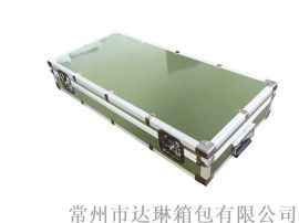 定做军绿色铝箱 手提箱战备资料箱 机械防护箱