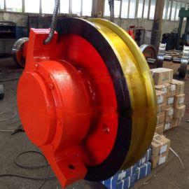 φ500x150双缘从动车轮组 起重机车轮组 轨道车轮组 整体淬火调质轮
