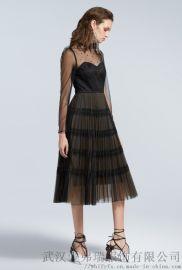 哪个服装厂家拿货便宜吗播五分袖七分袖连衣裙