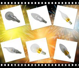 3WLED球泡灯蜡烛灯三叉360度发光灯具厂家批发一件代发