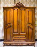 新古典衣柜雕花欧式四门衣柜储物柜