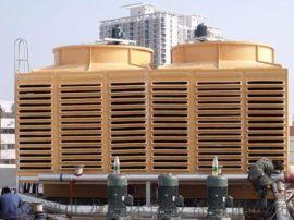 龙轩环保生产方形横流式冷却塔 超低噪音玻璃钢冷却塔