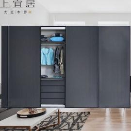 整體衣櫃現代簡約實木衣櫃臥室移門衣櫃定制廠家直銷
