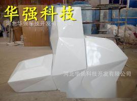销售玻璃钢休闲座椅组合花盆公园广场绿化日字形躺椅雕塑摆件厂家