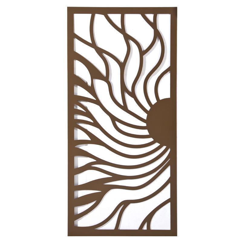 廠家直營木紋鋁合金隔斷窗花定製復古鋁窗花屏風