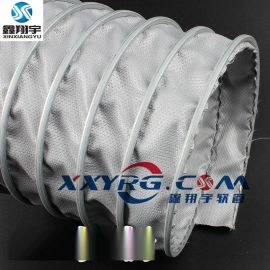 耐高温伸缩风管,夹布通风软管,耐400度高温风管