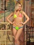 广州米卡服装厂 新款欧美外贸 女士泳衣 绑带拼色 性感 分体比基尼泳装