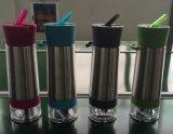 吸管不锈钢柠檬杯正品 喝水神器 手动榨汁水果杯 创意礼品杯子