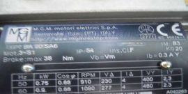 MGM刹车电机刹车片BMDA132MB2/6