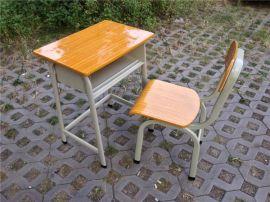 特价 旦管课桌椅 教室写字桌 单人固定桌 学生培训台 学习桌含椅