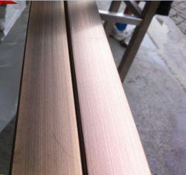 彩色不锈钢管 无指纹拉丝不锈钢方管(304材质)