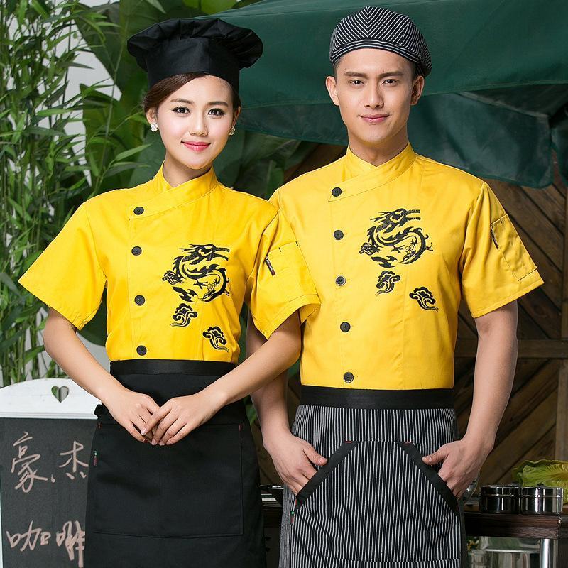 新款西式面包厨师服短袖夏装酒店餐厅饭店 厨师服定做厂家